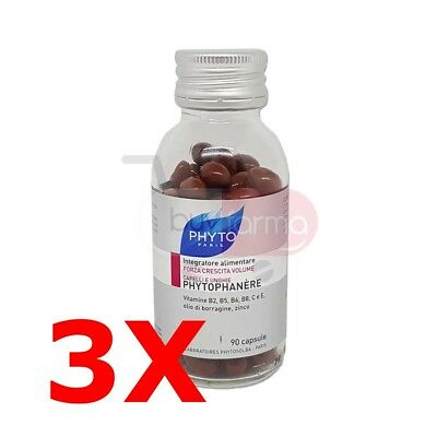 Offer 3x Phyto Phytophanere - Supplement Hair and nails - 270 Capsules