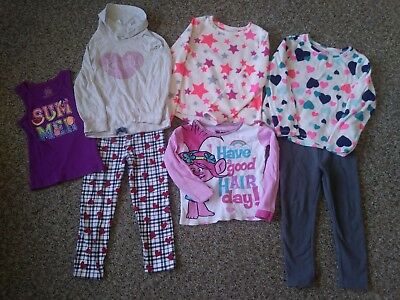 Girl's Bulk Lot Clothes Cute Seven Pieces Size 4-6 Year Toddler