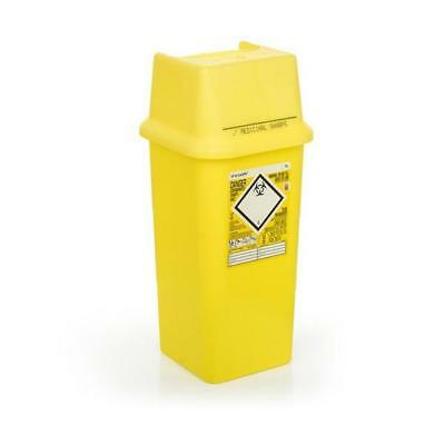 Click Medical Sharps Bin Temporary & Final Closure Feature 7L Yellow Ref CM0646