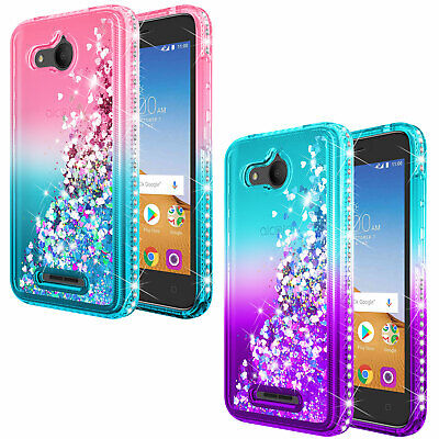 Alcatel Tetra 5041C Case | NageBee® Liquid Glitter Cute Bling Protective Cover