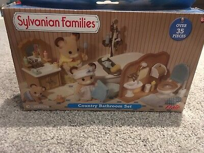 Sylvanian Family Country Bathroom Set (Boxed)