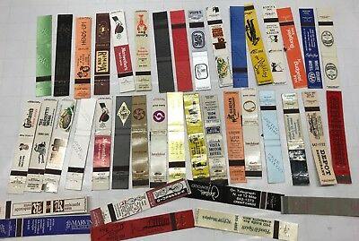 LOT 40 Vintage Full length old Matchbook Cover Advertising Restaurant Hotel Food
