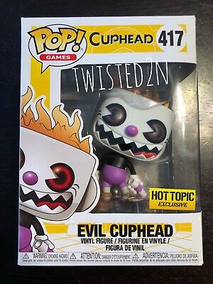 Funko Pop Games #417 Evil Cuphead Hot Topic Exclusive In Hand