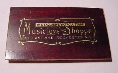 Music Lovers Shoppe Decal From A Victor Victrola Phonograph (Rochester, NY)