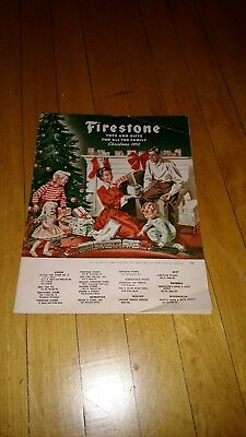 VTG 1952 Firestone Tires Toys and Gifts for All the Family Christmas Catalog