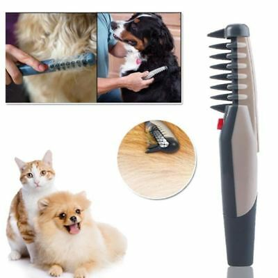 Electric Pet Dog Grooming Comb Cat Hair Trimmer Knot Out Remove Mats Tangles S