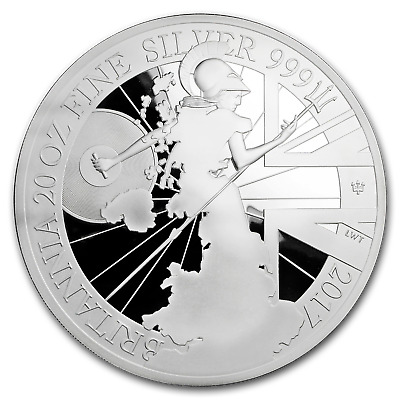 2017 Great Britain 20 oz Silver Britannia 20th Anniv (No Box) - SKU#176831