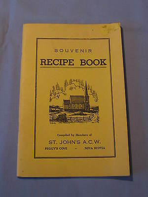 Souvenir Recipe Book Cookbook St Johns ACW Peggys Cove Nova Scotia