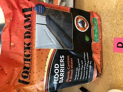 Quick Dam Water Activated Flood Barrier 10 feet 1 Pack