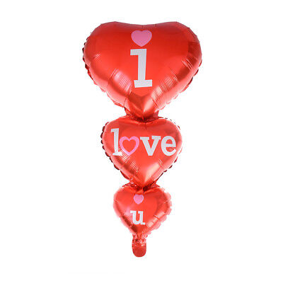 75x39cm Pearl Red Love Heart Shape Foil Helium Balloons Wedding Party Decor JH
