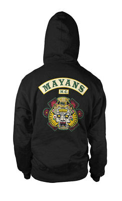 Official Licensed Mayans M.C - Sons of Anarchy Hoodie S-XXL Sizes (Black)