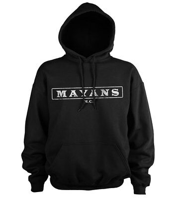 Official Licensed Mayans M.C Washed Logo Hoodie S-XXL Sizes (Black)
