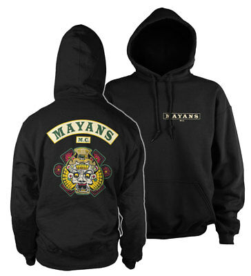 Official Licensed Mayans M.C Backpatch Hoodie S-XXL Sizes (Black)