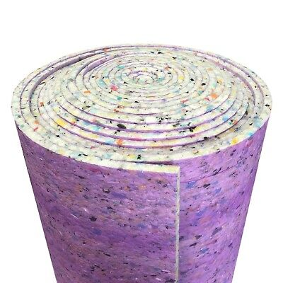12mm Thick PU Carpet Underlay Rolls Any Size UK Manufactured Luxury Feel CHEAP