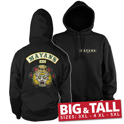 Official Licensed Mayans M.C Backpatch Big & Tall 3XL, 4XL, 5XL Hoodie