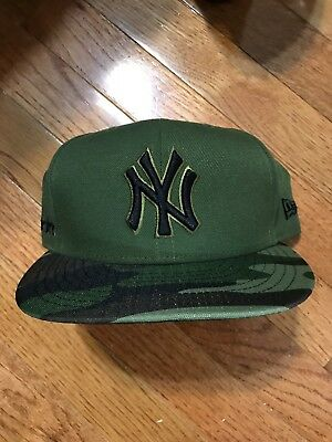 New Era 59Fifty New York NY Yankees Game Fitted Hat (Camo) MLB Cap