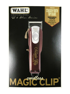 Wahl 5 Star Cordless Magic Clip Clipper Model 8148 - Gold Lever / Power Switch