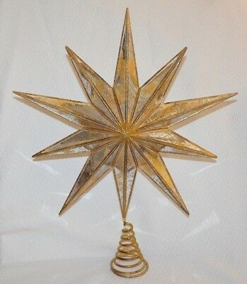 2bfd03db1e28b Pottery Barn Mirrored Star Christmas Tree Topper Gold Large 19