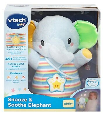 VTech Snooze & Soothe Elephant Blue Free Shipping