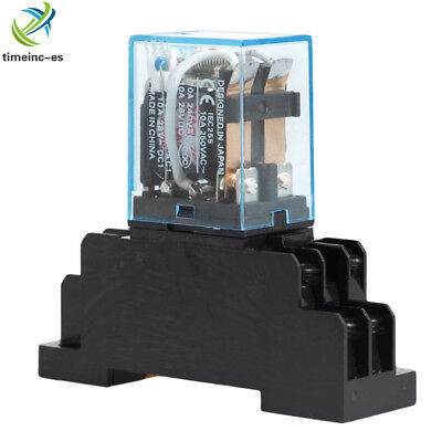 10A AC 220V Coil Power Relay DPDT LY2NJ HH62P HHC68A-2Z With Socket Base