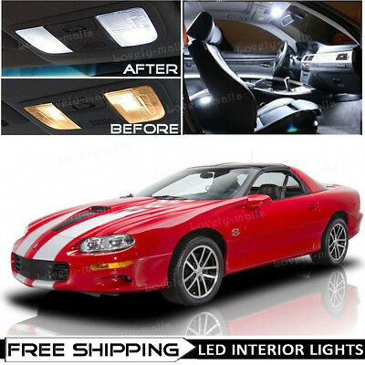 TOOL 11 x Ultra Red Interior LED Lights Package For 1993-2002 Chevy Camaro
