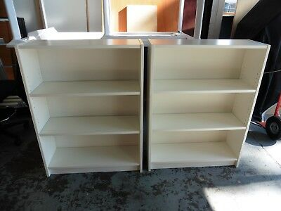 Office White 1060Mm High Bookcase Brisbane