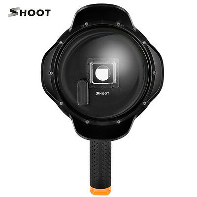 SHOOT Dome Port Lens Underwater Housing Diving Shell Cover for GoPro Hero 4 3+