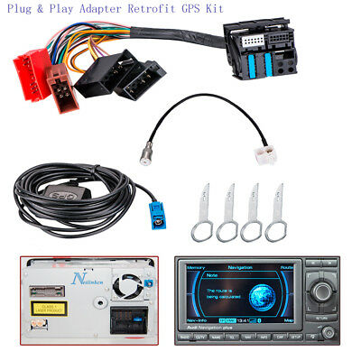 RNS-E BOSE SYSTEM ISO Plug & Play Adapter Retrofit Kit Fit For Audi A3 A4 A6