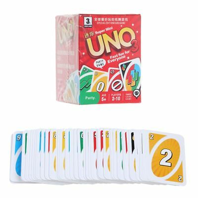 Standard 108 MIni UNO Playing Cards Game For Family Friend Party Travel Fun Toy