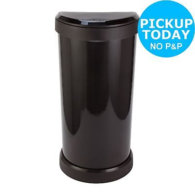 Curver 40 Litre Deco Touch Top Kitchen Bin - Black.