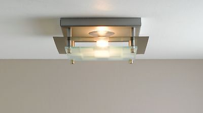Argos Home Seda Square Check Ceiling Fitting - Silver