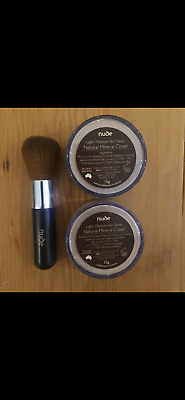Nude by Nature Mineral Cover Foundation (x2) + FREE Brush (choose your shade)