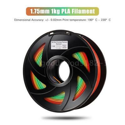 PLA 3D Printer Filament Color Changing Rainbow Multicolor 1.75mm 1kg Spool Print