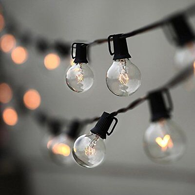 outdoor string lights vintage commercial grade string vintage backyard patio lights w 25 clear globe bulbs indooroutdoor use lampat string lights with