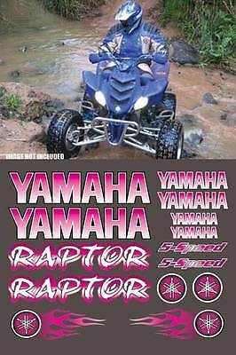 Yamaha Raptor PINK Digital Full Color 16pc ATV Decals Stickers Graphics 660R,