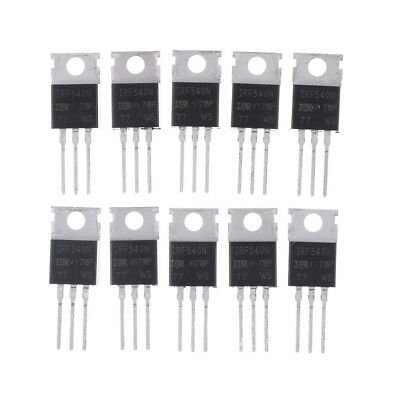 10PCS IRF540N IRF540 TO-220 N-Channel 33A 100V Power Mosfet NJ