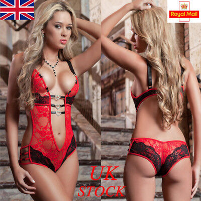 UK Womens Lace Sexy/Sissy Babydoll G-String Underwear Ladies Lingerie Nigtwear