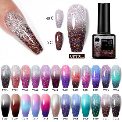 UR SUGAR 7.5ml Rainbows Thermal Color Changing Soak Off UV Gel Polish Nail Art