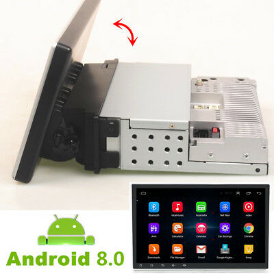 """10.1"""" Adjustable Touchscreen Android 8.0 Car Radio Stereo 1Din 8-Core GPS Wifi"""