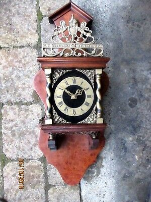 Vintage Dutch Wall Clock For Spares.