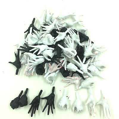 "RANDOM PICK 10 PAIR OF THE Marvel Legends Series BLACK WHITE HAND For 6"" Figure"