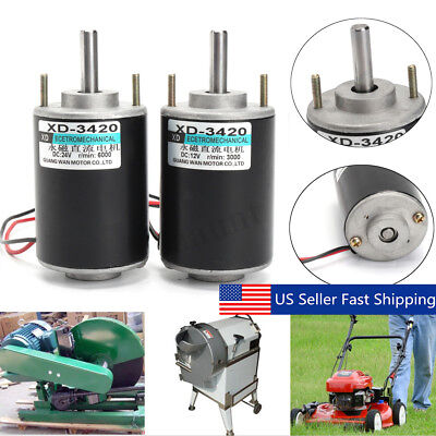 12/24V 30W Permanent Magnet DC Electric Motor High Speed CW/CCW DIY Generator US