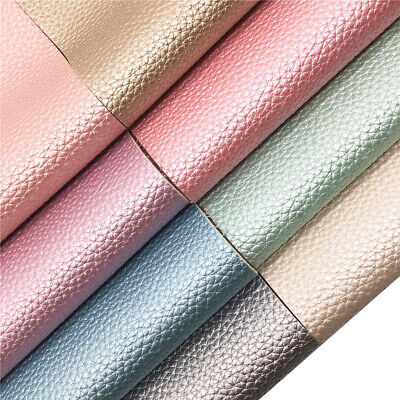Pearly Grain Metallic Faux Leather Vinyl  Fabric Leatherette Sheet Upholstery
