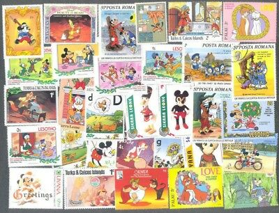 Disney-50 all different stamp collection-Cartoons(no.3)