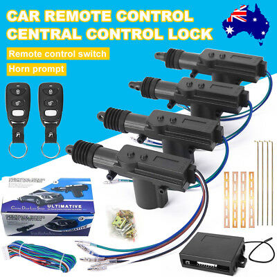 Car Remote Central Locking Kit Control 4 Door Lock Security System Keyless Entry