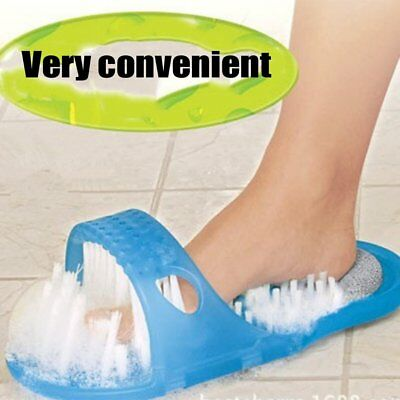 Shower Feet Foot Scrubber Massager Cleaner Spa Exfoliating Washer Wash Slipper A