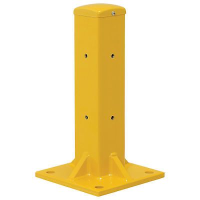 "18""H Protective Rail Barrier Post For Single Rail, Post Only, Lot of 1"