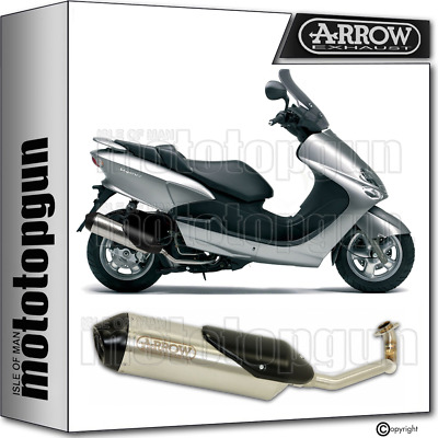 Arrow Full System Exhaust Homologated Reflex 2 Nichrom Mbk Skyliner 125 2010 10
