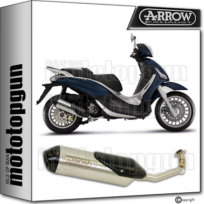 Arrow Full System Exhaust Homologated Reflex 2 Piaggio Beverly 300 Ie 2010 10