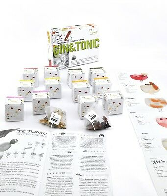 Gin lovers kit infusions botanicals pack , 24 infusions and 6 flavours